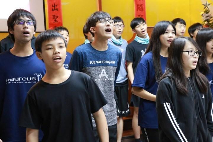 遠雄公益捐贈活動-小朋友們唱感恩歌曲