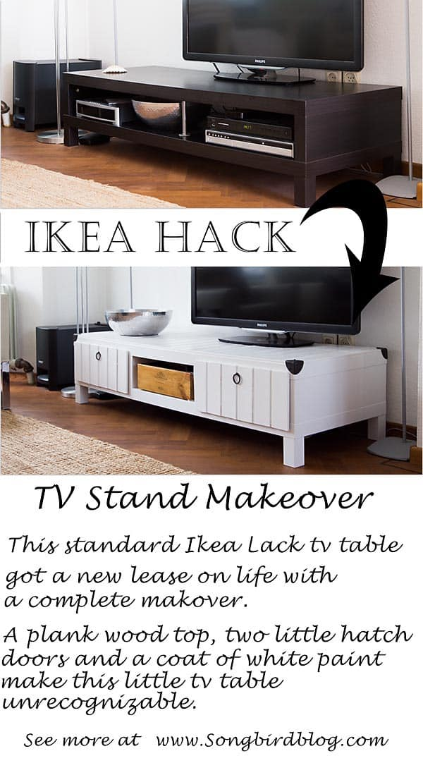 IKEA Furniture Project TV Stand Makeover