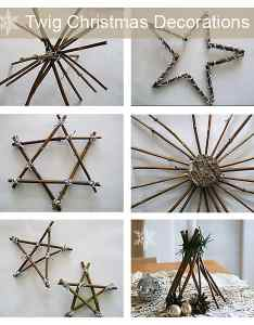 They were all made by simply cutting twigs to size and attaching them in  star shape with yarn if  get around it  ll write the tutorial on how also make your own twig christmas decorations rh songbirdblog