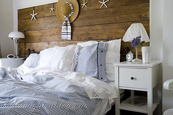 blue and white vintage bedroom New summer bedding and a vintage crochet bedspread - Songbird