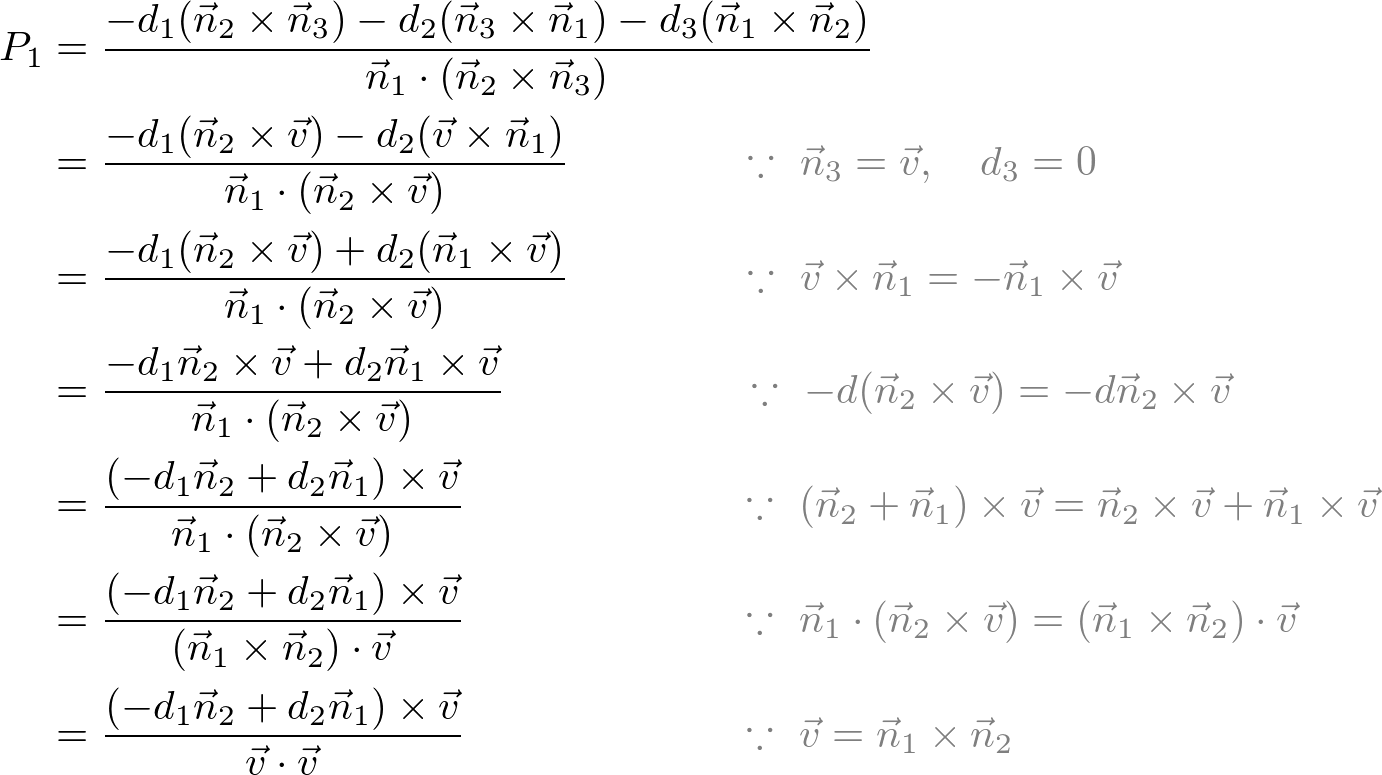 Linear Algebra Equation Of A Plane