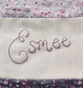 ALT=picture of embroidered name