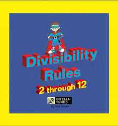 Intelli-Tunes: Divisibility Rules 2-12 CD [ 1000 x 1000 Pixel ]
