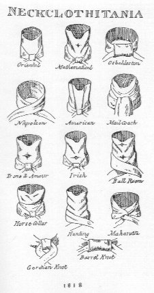 A plate from the 1818 manual Neckclothitania, published
