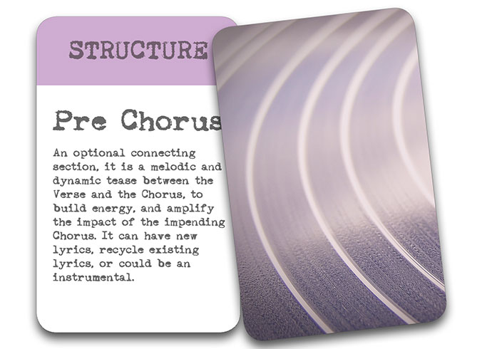 'The Song In My Head' Songwriter Cards: Structures – Pre Chorus