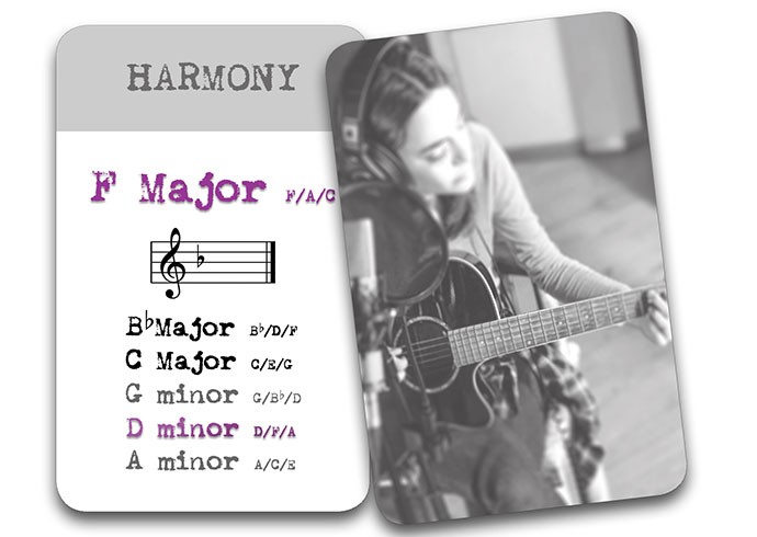 'The Song In My Head' Songwriter Cards: Harmony F Major
