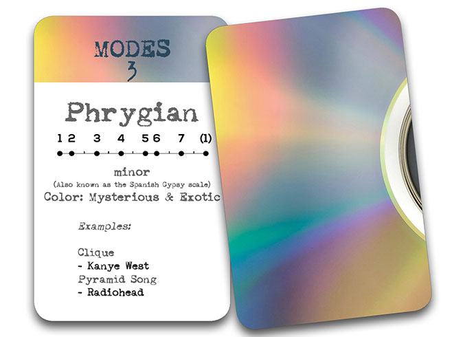 'The Song In My Head' Songwriter Cards: Modes – Phyrgian