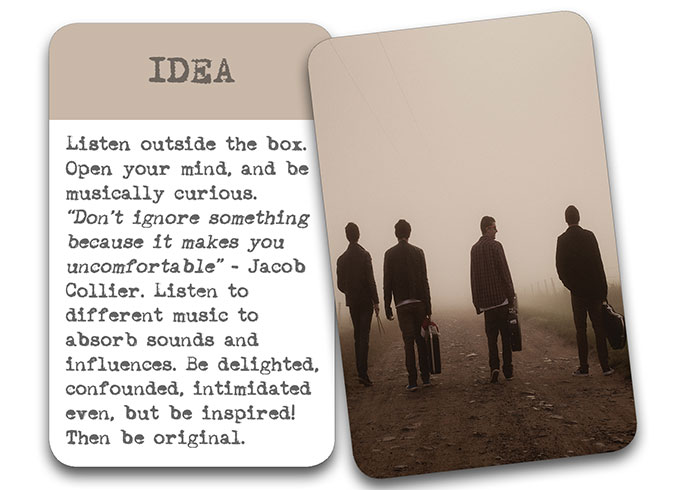 'The Song In My Head' Songwriter Cards: Idea