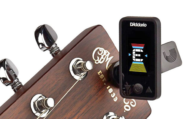 D'Addario Eclipse headstock guitar tuner