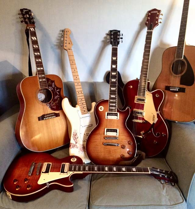 Emma King's guitars