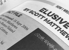 'Elusive' by Scott Matthews in 'How I Wrote' the book