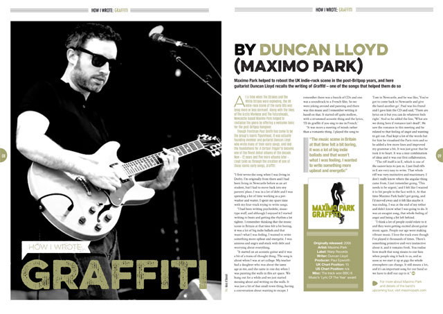 How I wrote 'Graffiti' by Maximo Park