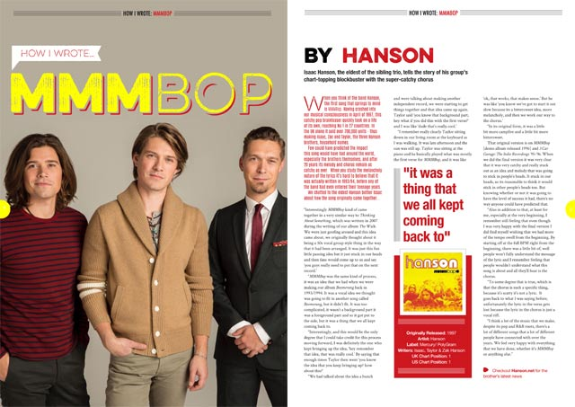 How I wrote 'MMMBop' by Hanson