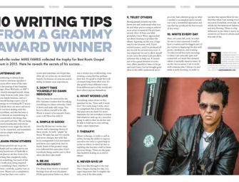 10 writing tips from Grammy Award winner Mike Farris