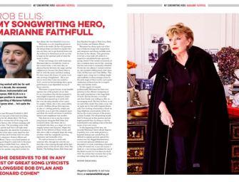 Rob Ellis: My Songwriting Hero, Marianne Faithfull