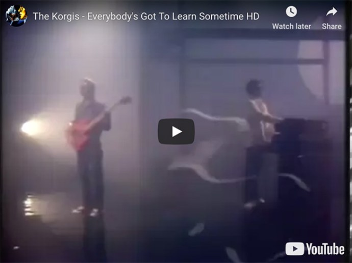 The Korgis 'Everybody's Got To Learn Sometime' video