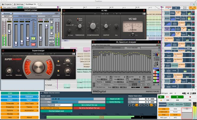 Tracktion 5 third-party plugins