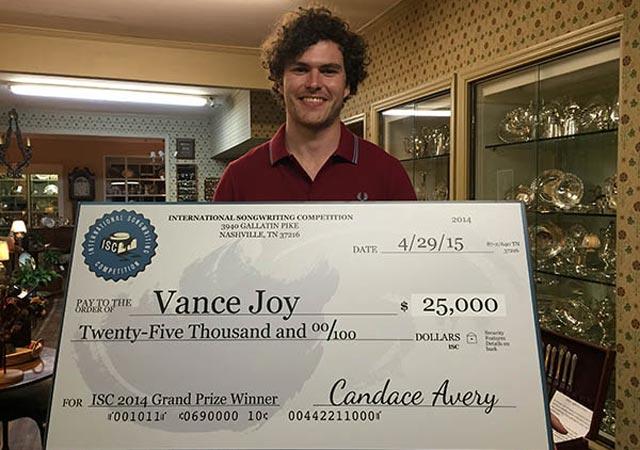Vance Joy – ISC 2014 winner