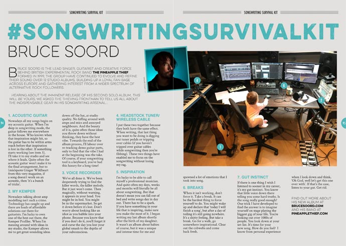 Bruce Soord's Songwriting Survival Kit