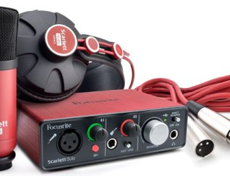 Focusrite compiles studio recording set-up