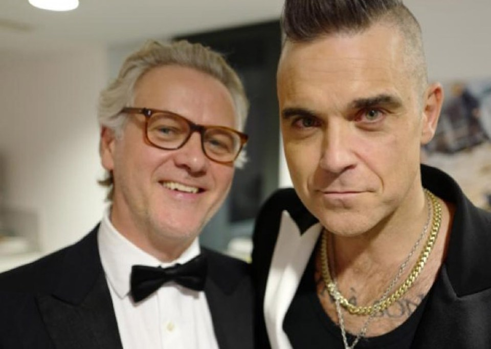 Guy Chambers and Robbie Williams
