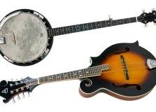 Hohner A+ student bluegrass instruments — banjo and mandolin
