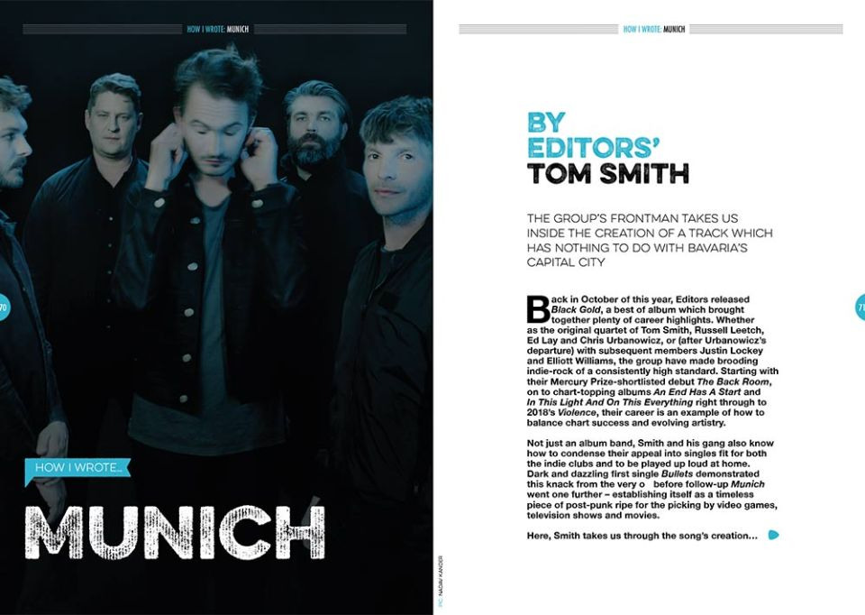 How I wrote 'Munich' by Editors in Songwriting Magazine
