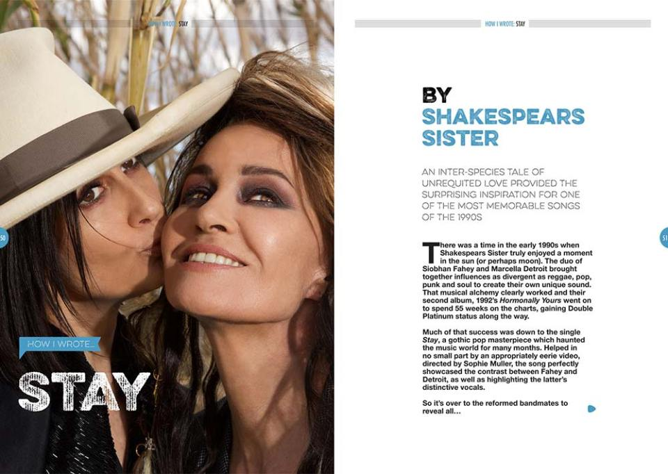How I wrote 'Stay' by Shakespears Sister in Songwriting Magazine