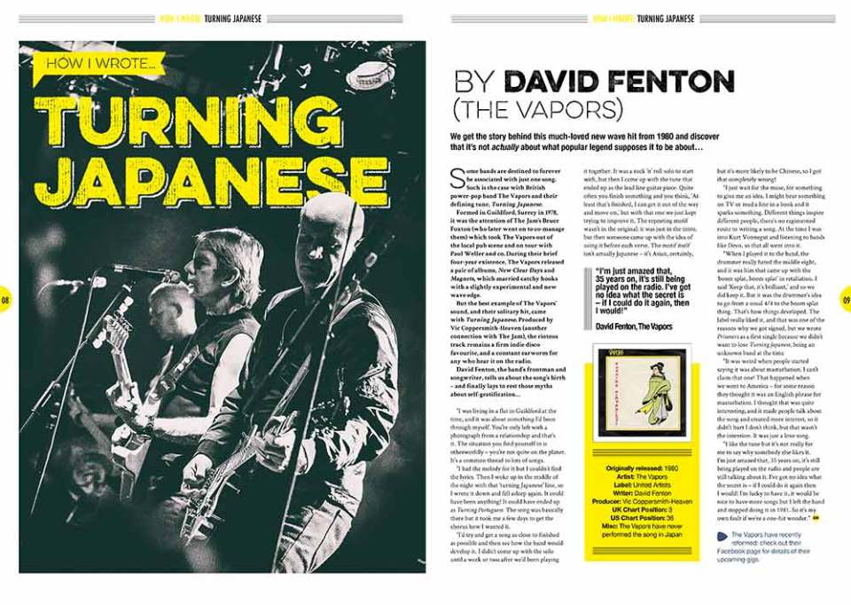 How I wrote 'Turning Japanese' in Songwriting Magazine Spring 2017
