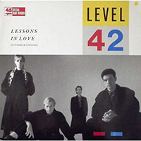 Level 42 'Lessons In Love' single cover