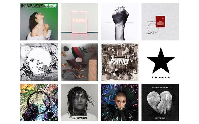 Mercury Prize 2016 albums artwork