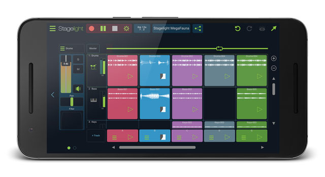 Open Labs Stagelight music creation app for Android mobile devices