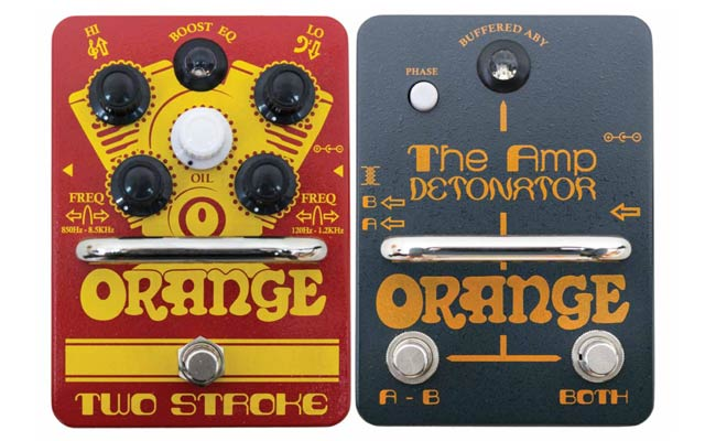 Orange Two Stroke and The Amp Detonator pedals