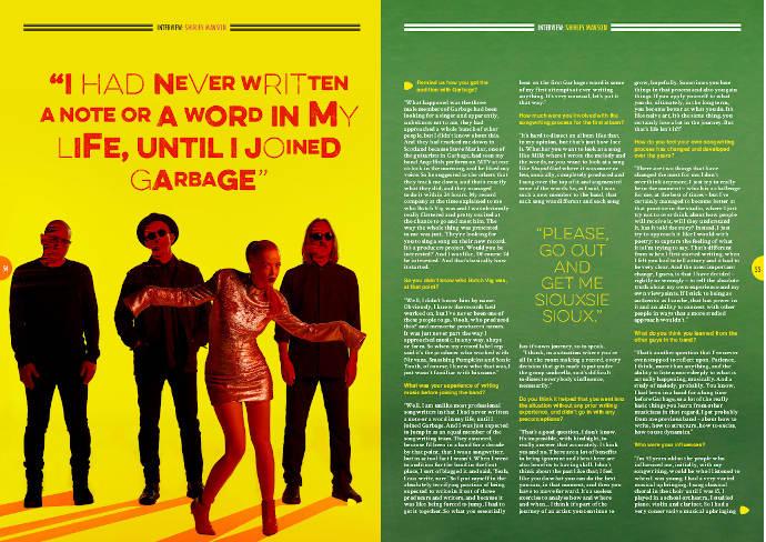 Shirley Manson in Songwriting Magazine