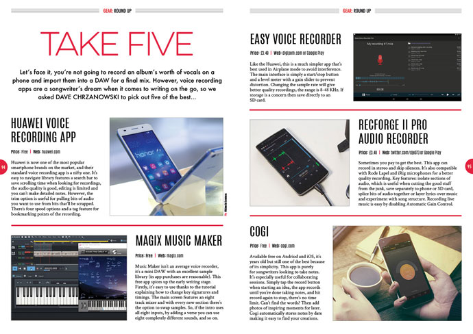 Take Five: voice recording apps