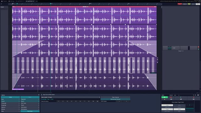 Tracktion T7 screenshot: clip effects