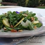 Insalata di Valeriana, parmigiano, mela e noci