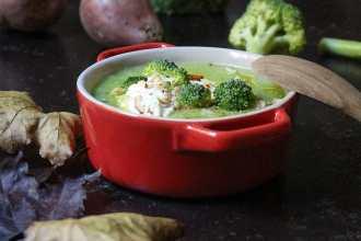 Zuppa di patate e broccoli