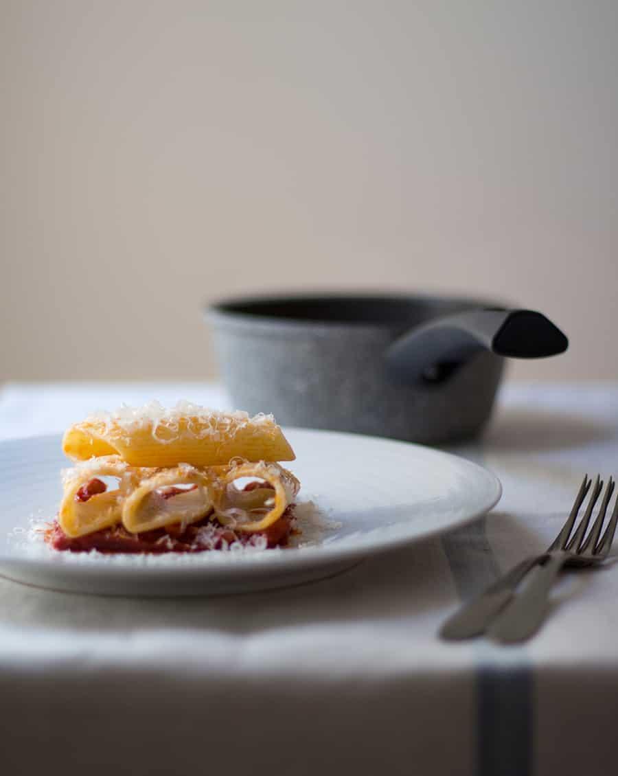 Pasta Bombardoni al pomodoro
