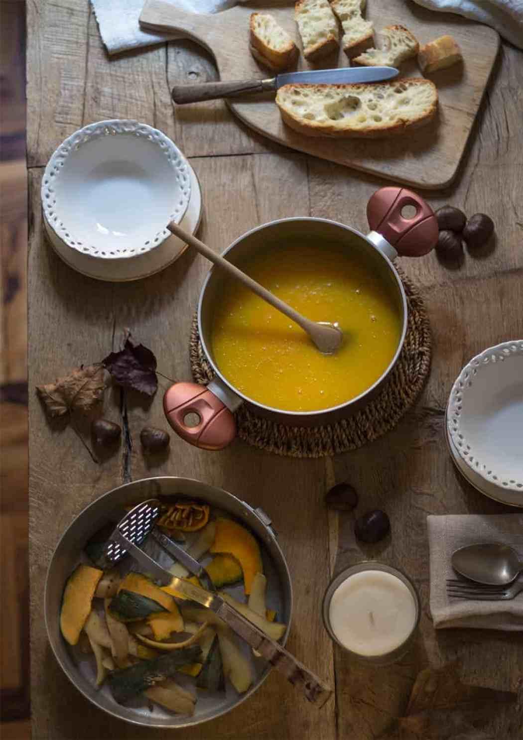 ricetta vellutata di zucca e castagne