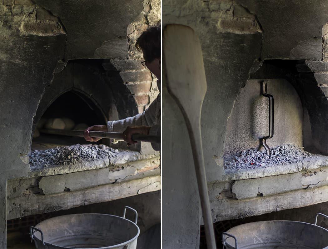 pagnotte cotte con forno a legna