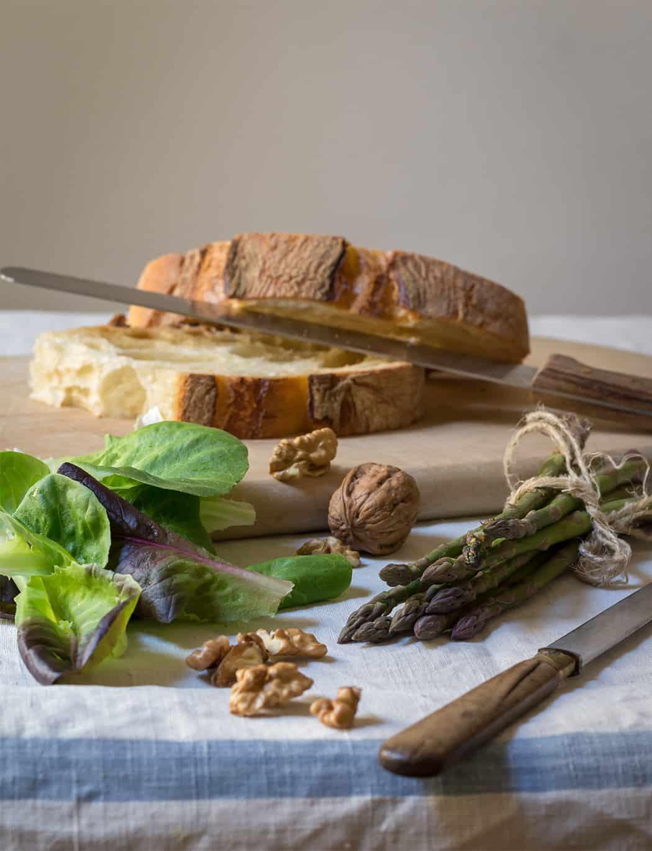 pane e noci con gorgonzola