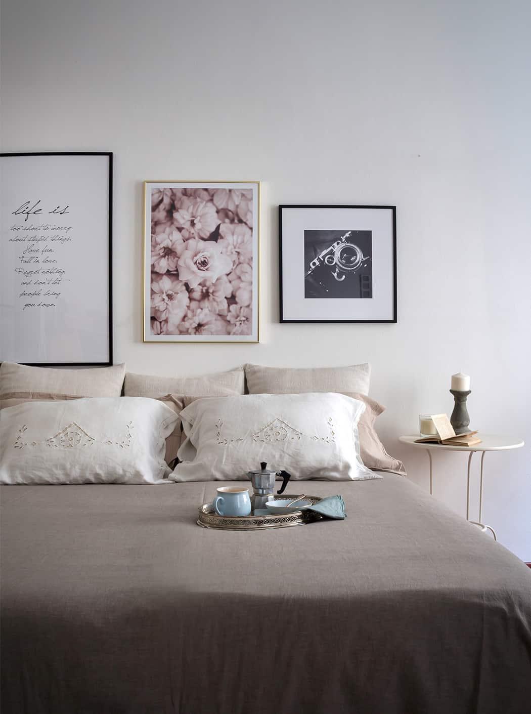 poster e quadri in camera da letto