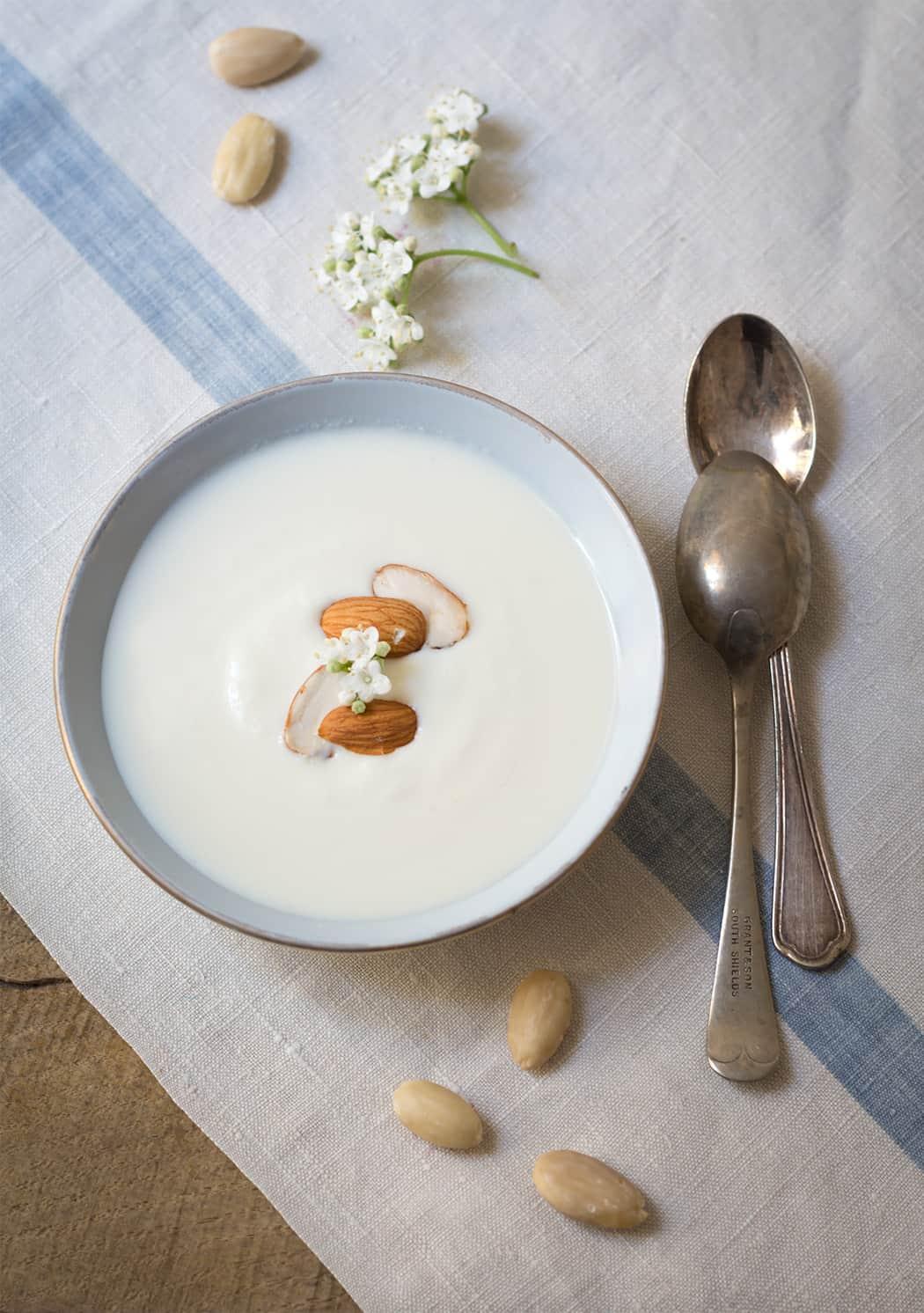 ricetta yogurt naturale alle mandorle