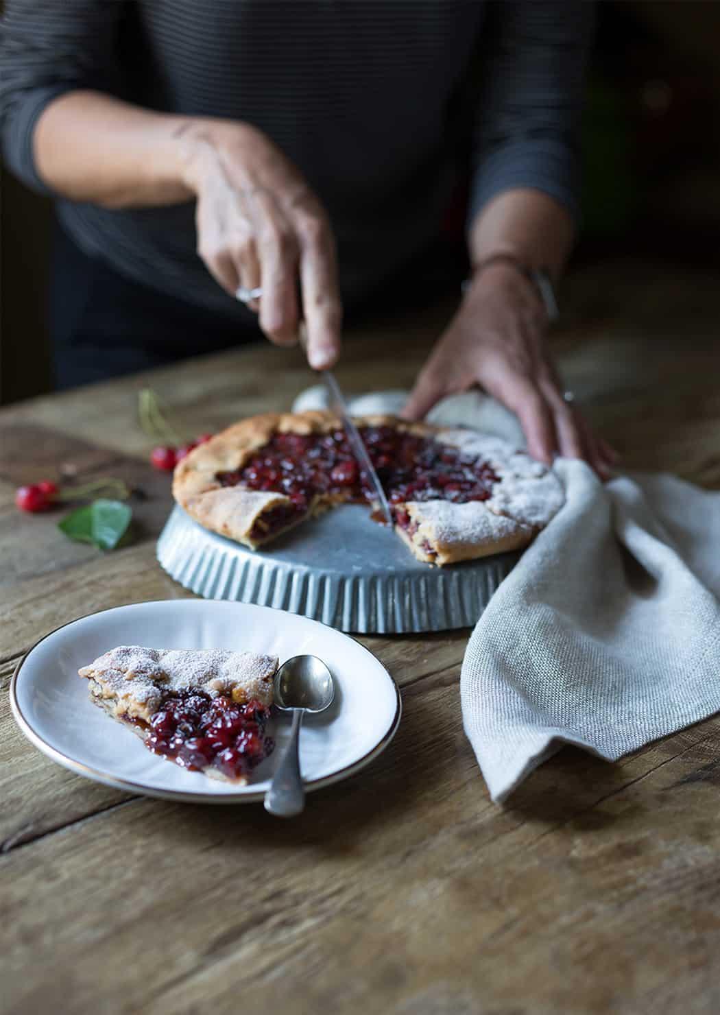ricetta torta di ciliegie Sonia Paladini