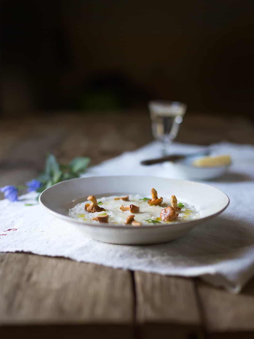 ricetta risotto con formaggio Montasio e funghi