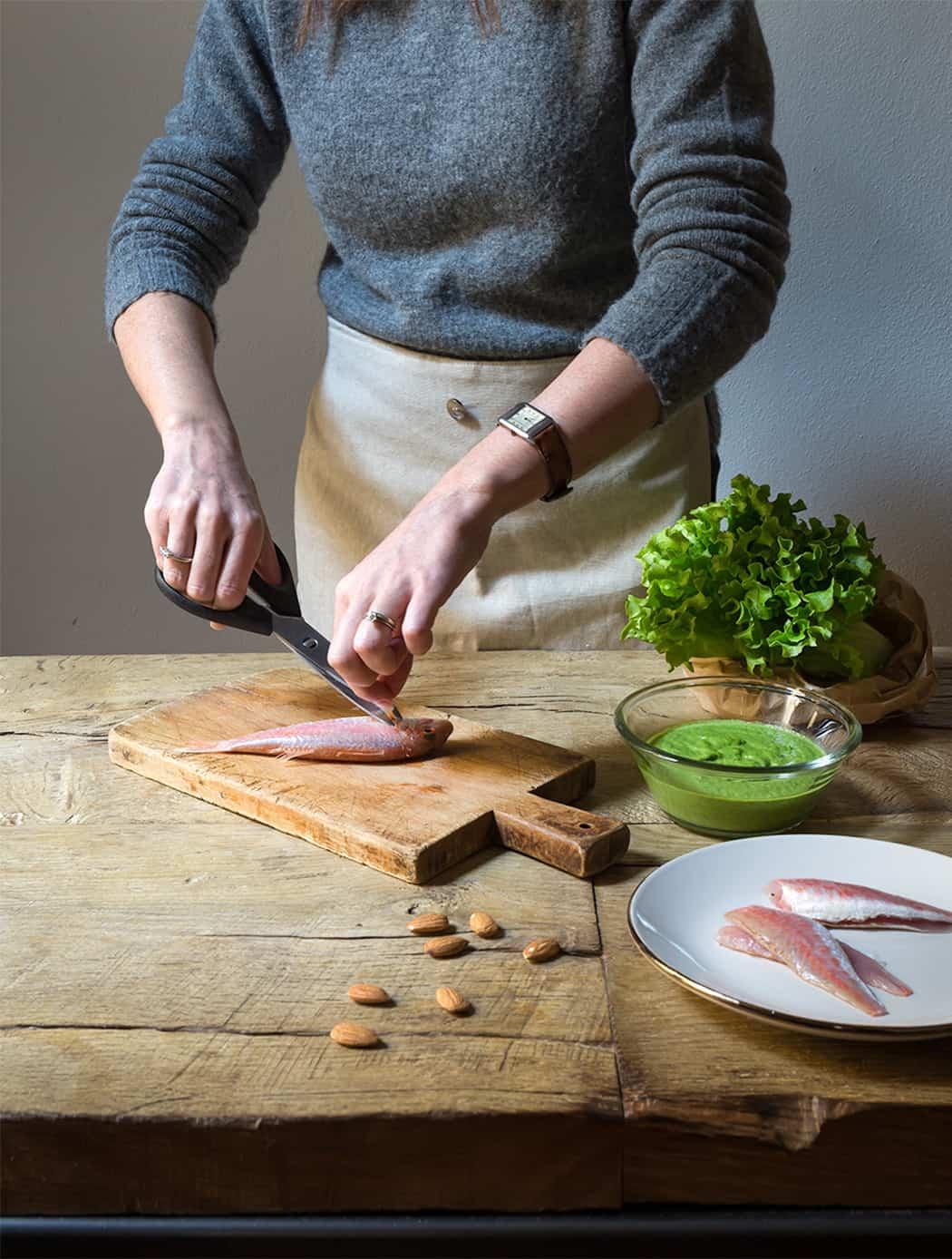 ricette triglie con insalata Lusia