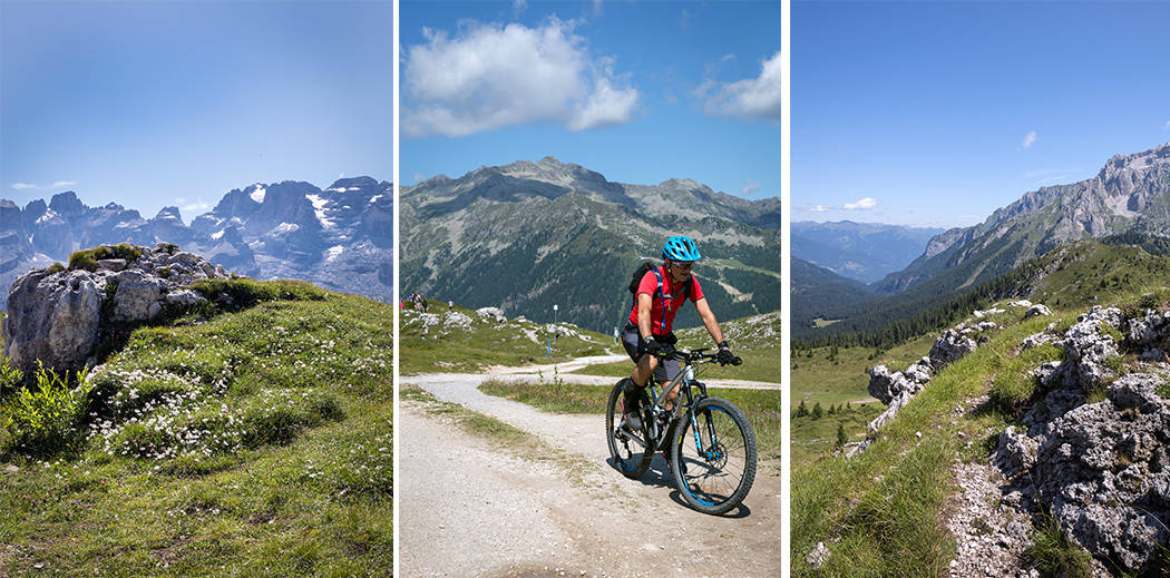 Mountain Bike sulle Dolomiti di Brenta