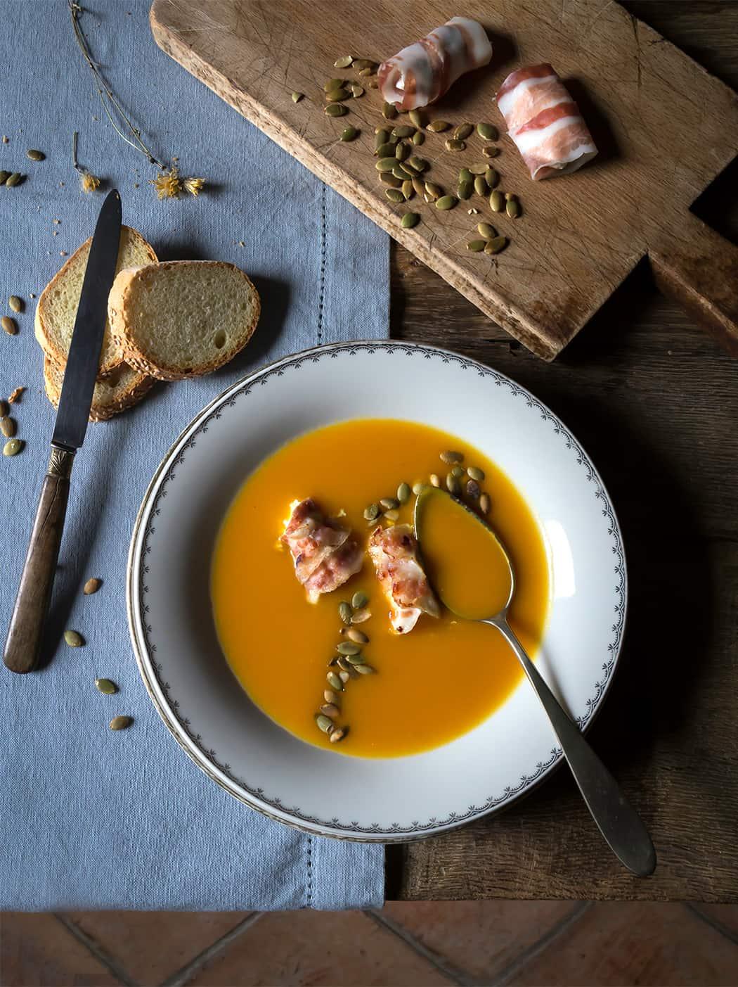 ricetta crema di zucca carote e curcuma