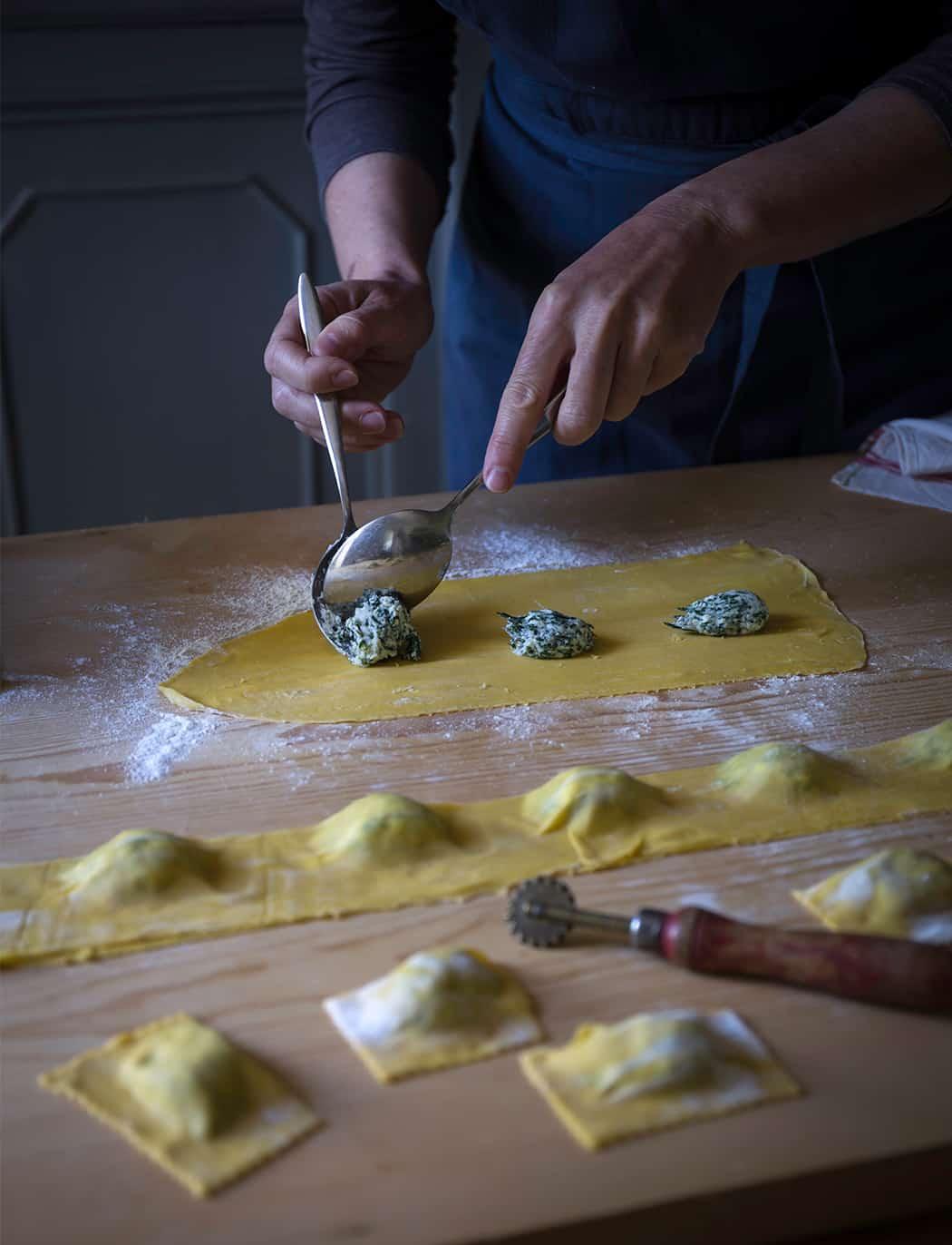 ripieno tortelli ricotta spinaci
